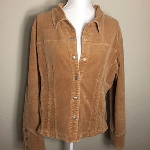 Live a Little Women's Corduroy Jean Style Jacket